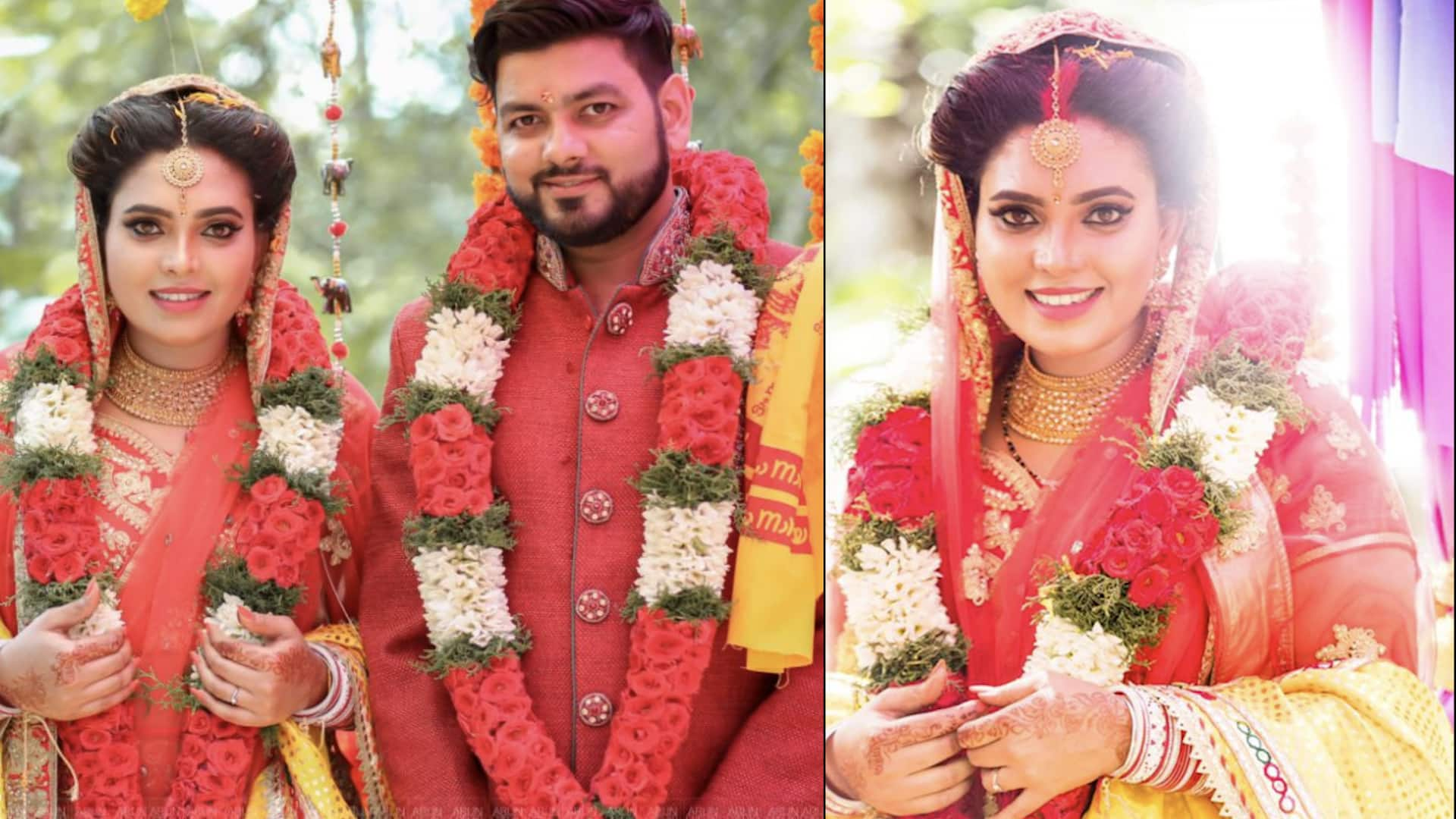 In Pictures: Young actress Ishaara Nair ties the knot with NRI