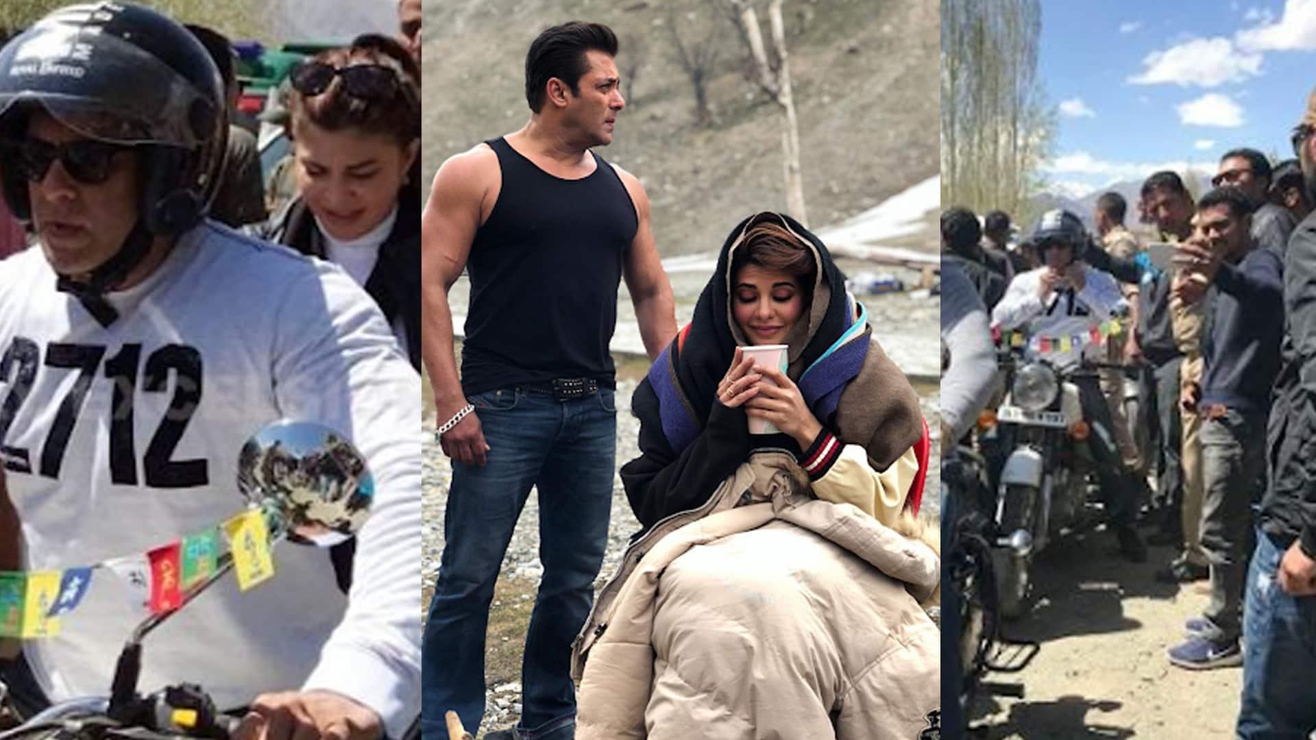 In Pics: Salman Khan takes Jacqueline Fernandez on a bike ride in Kargil