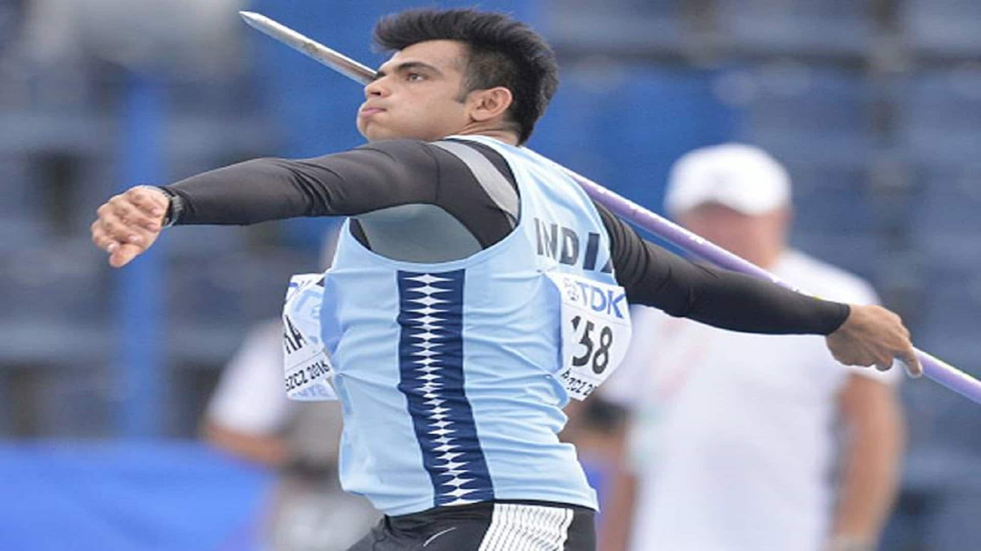 NEERAJ CHOPRA WINS GOLD MEDAL IN WORLD ATHELETICS MEET