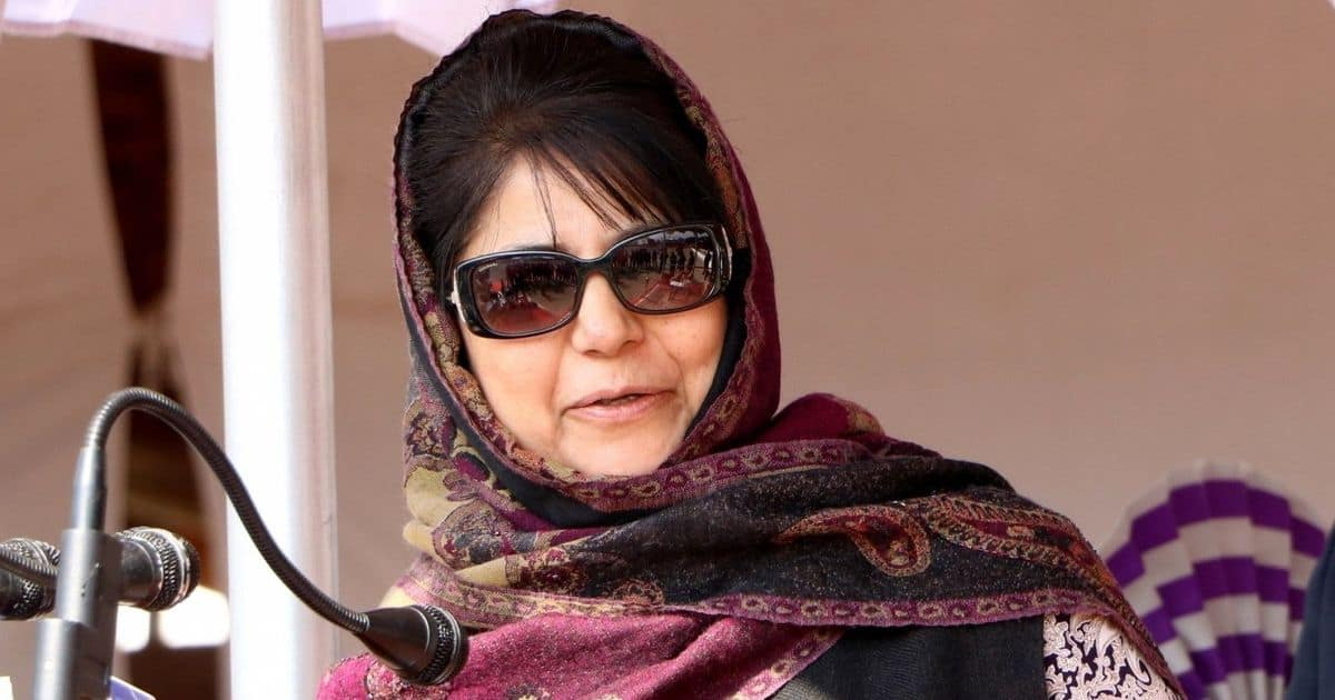 Mehbooba booked for threatening nation with terror