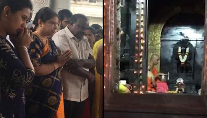 Karnataka CM Kumaraswamy goes temple-hopping as State suffers from rains