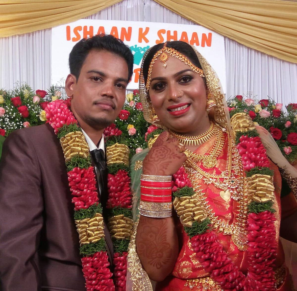 Kerala government to organise grand reception for India's first married transgender couple
