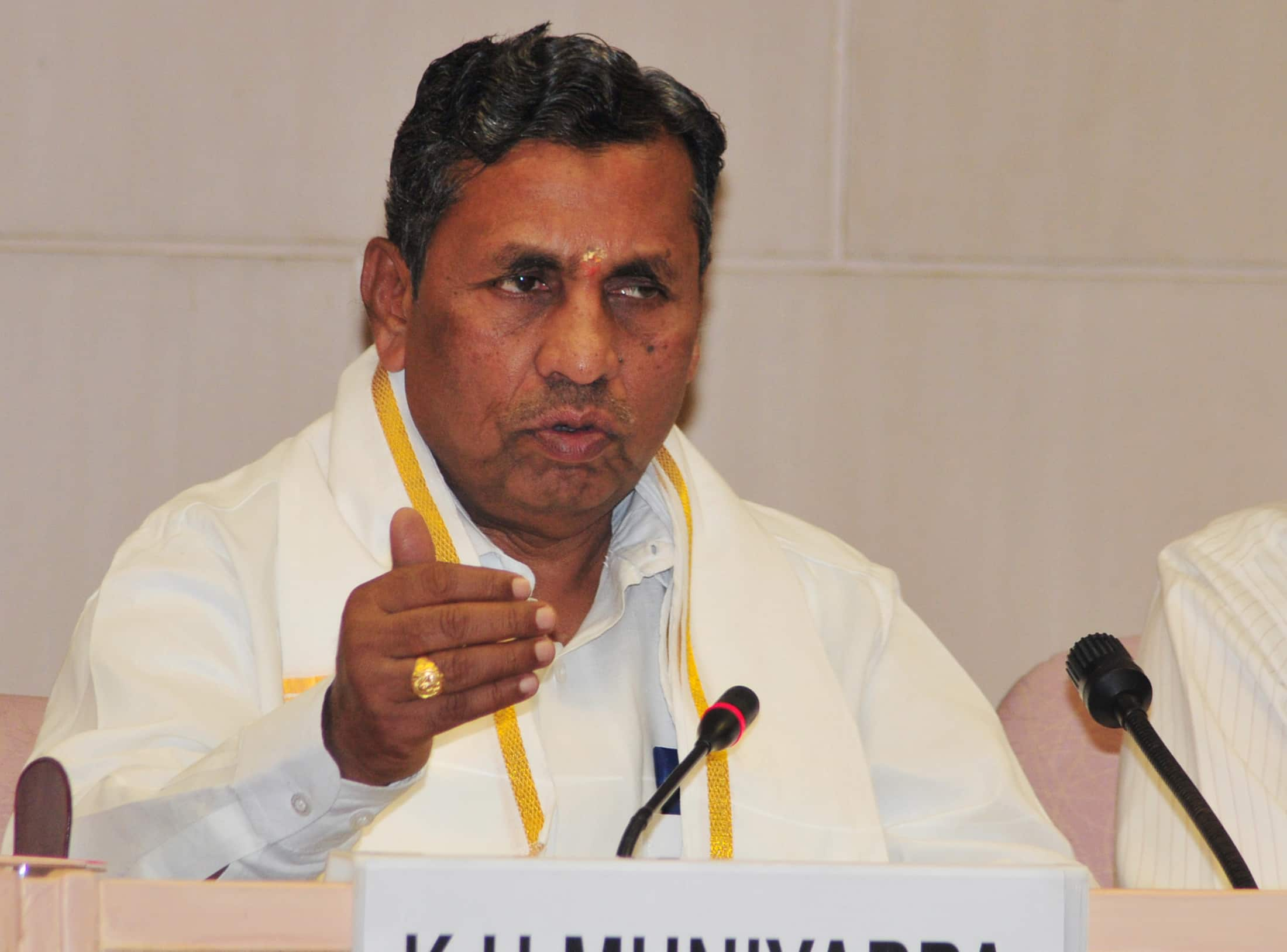 If Kharge Son Can Be a Minister Why Not My Daughter Asks Muniyappa