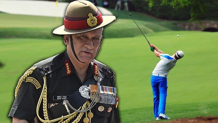 golf banned for officers in kashmir to honour soldiers sacrifice