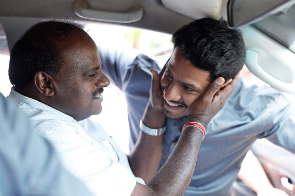 HDK finds lucky charm in son's car