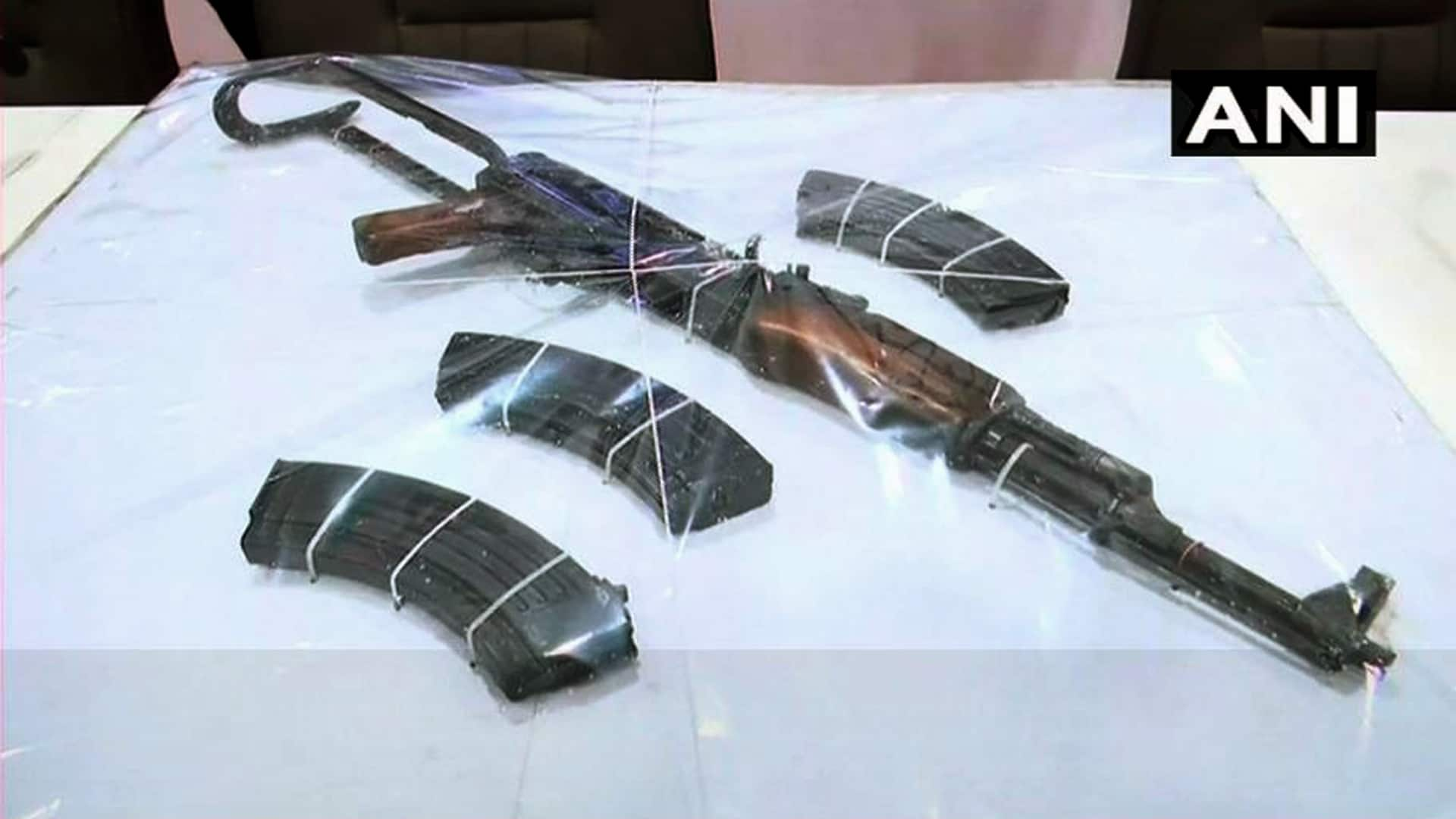 weapons recovered from a house in Mumbai
