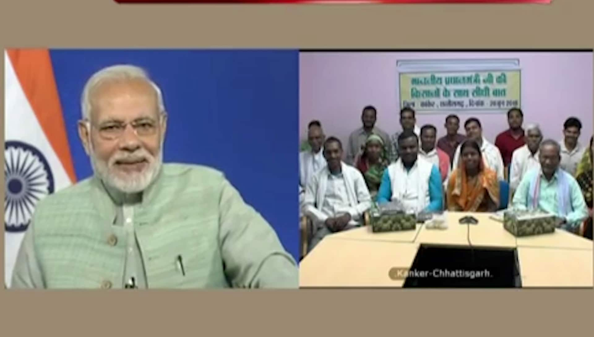 Video: Farmer woman rubbishes media reports that suggested PM Modi used her to score points