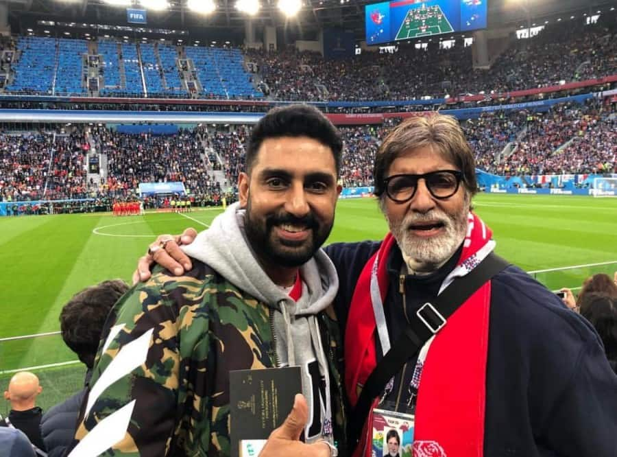 Bachchans watch FIFA World Cup in Russia, post picture
