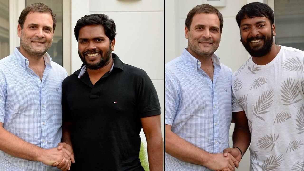 Rahul's latest PR drive after 'Pidi' to project his softer side: Meets Tamil director and actor