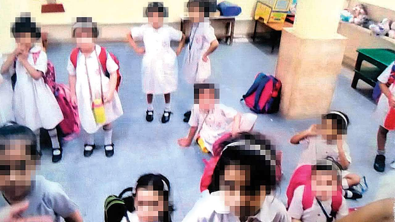 Children in school remained closed in the basement hours