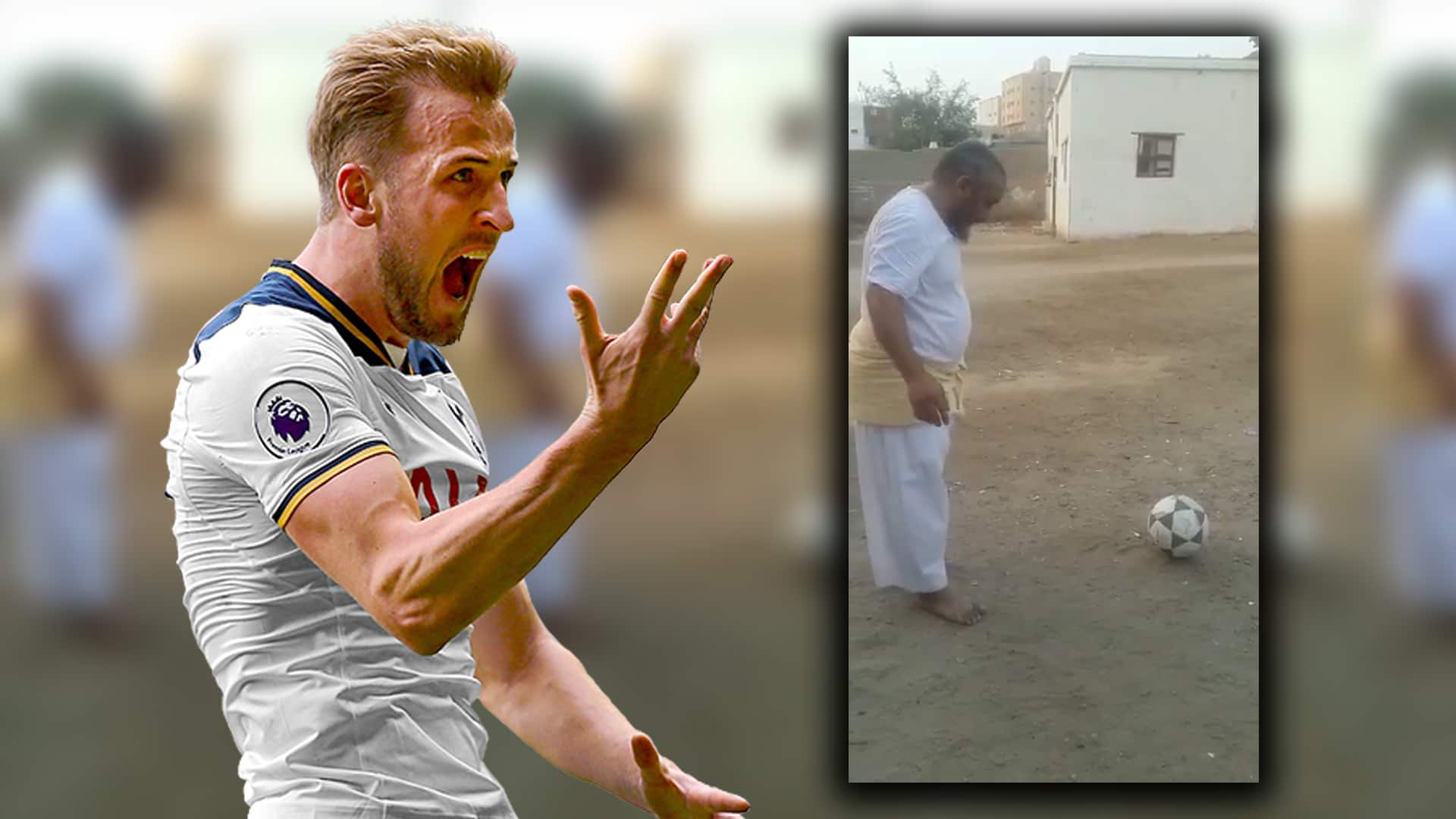 The Harry Kane you haven't seen. Video goes viral on social media