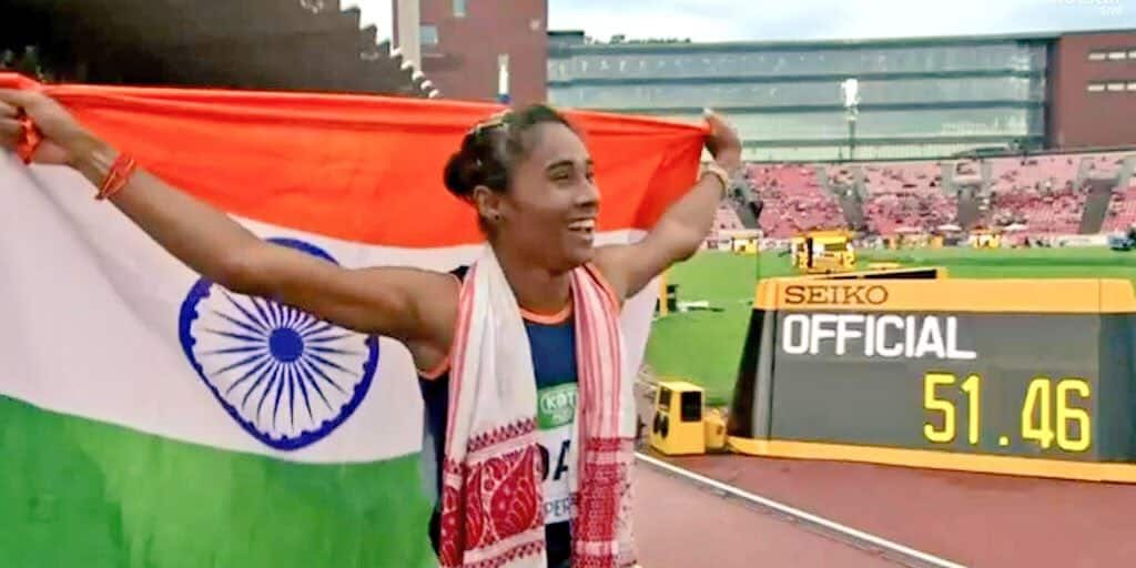 Sprinter Hima Das becomes first Indian to win gold at a world track event