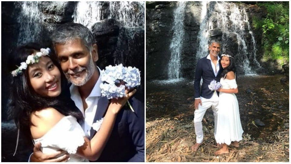 Milind Soman-Ankita Konwar tie the knot again, this time barefoot in the woods!
