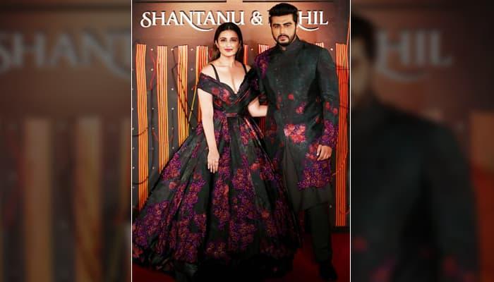 arjun and parineeti attend fashion show, look amazing