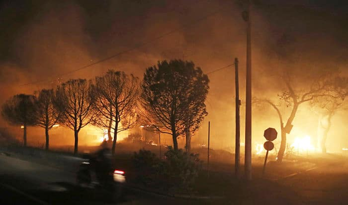 Athens wildfire: Death toll rises to 24, 100s injured, residents flee home