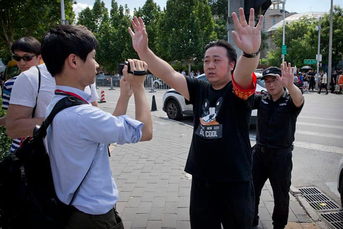 Man explodes small device outside US Embassy in Beijing