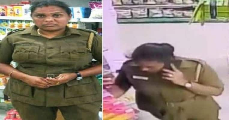 Woman Cop Caught Stealing Chocolates On CCTV