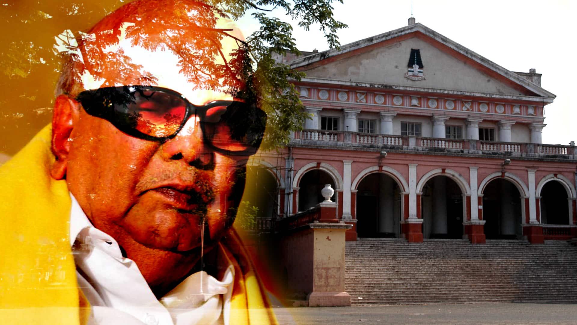 No official word on Karunanidhi, but Rajaji Hall and Anna memorial sees action