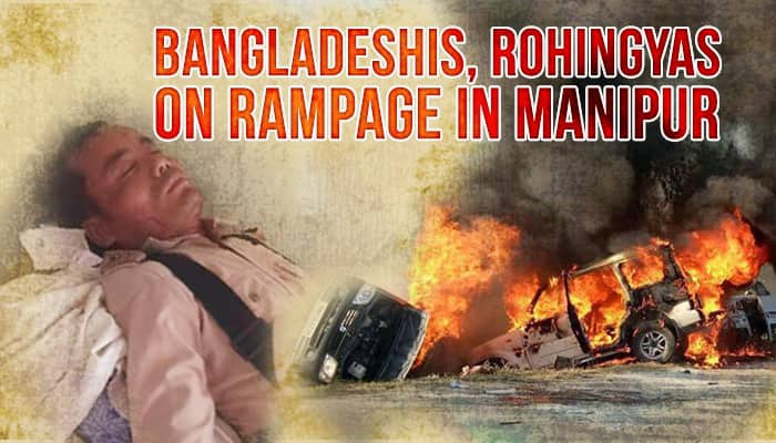 Bangladeshis, Rohingyas facing exit in Manipur go on rampage