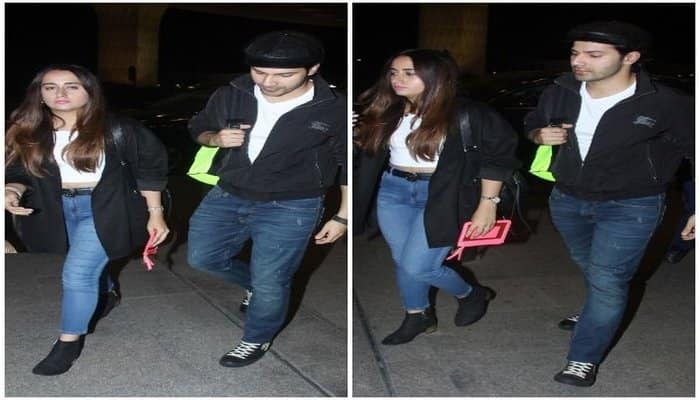 Varun dhawan spotted in airport with his girlfriend