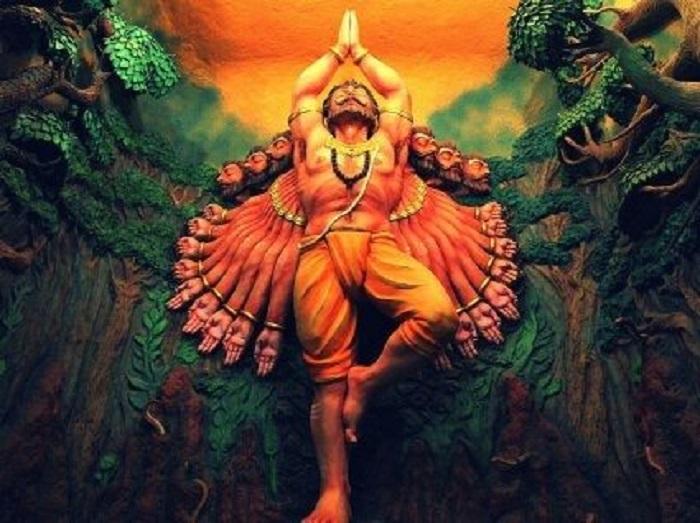 Ravana's 10 head depict  10 different information