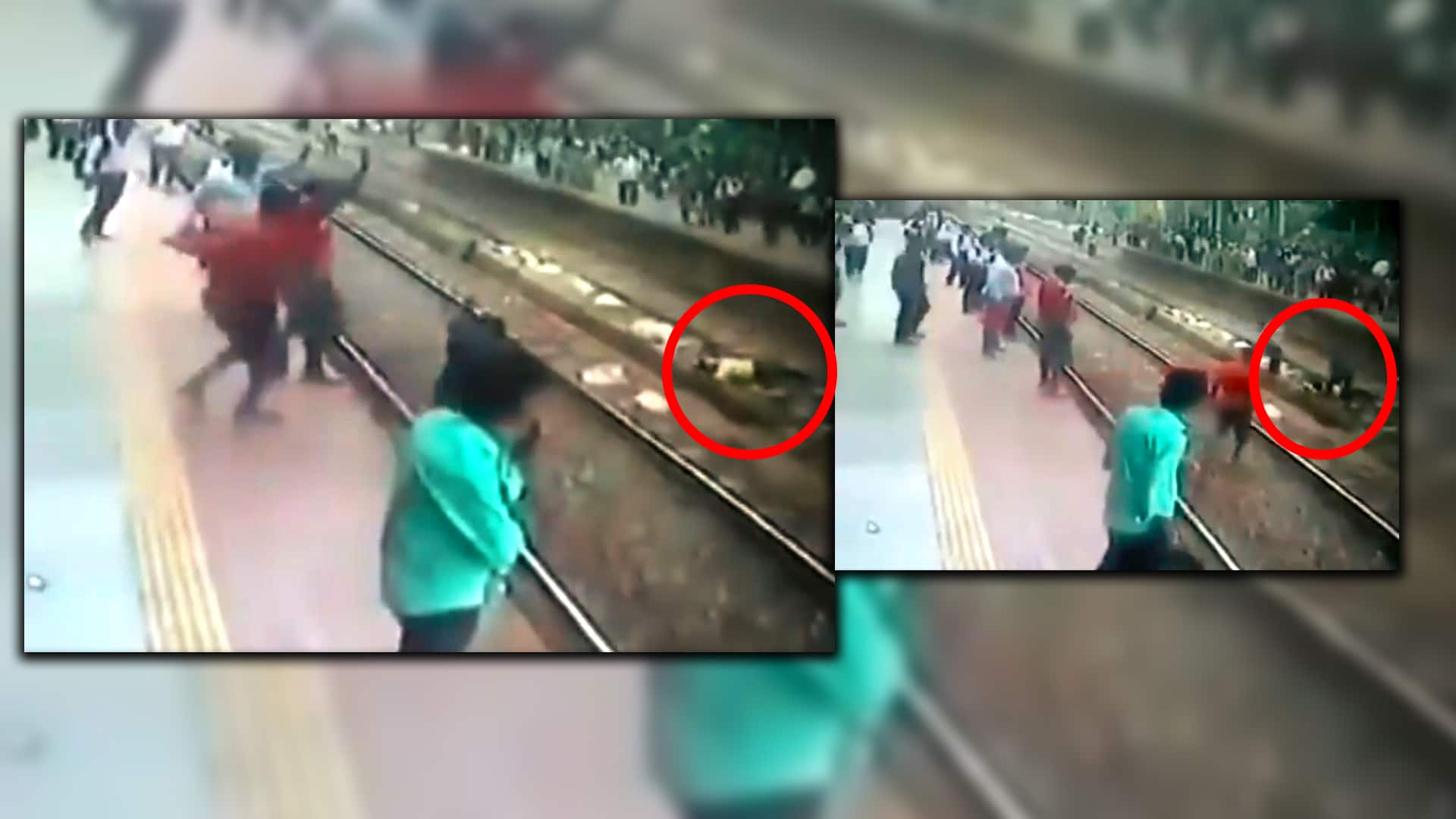 one man trying to suicide on mumbai railway track