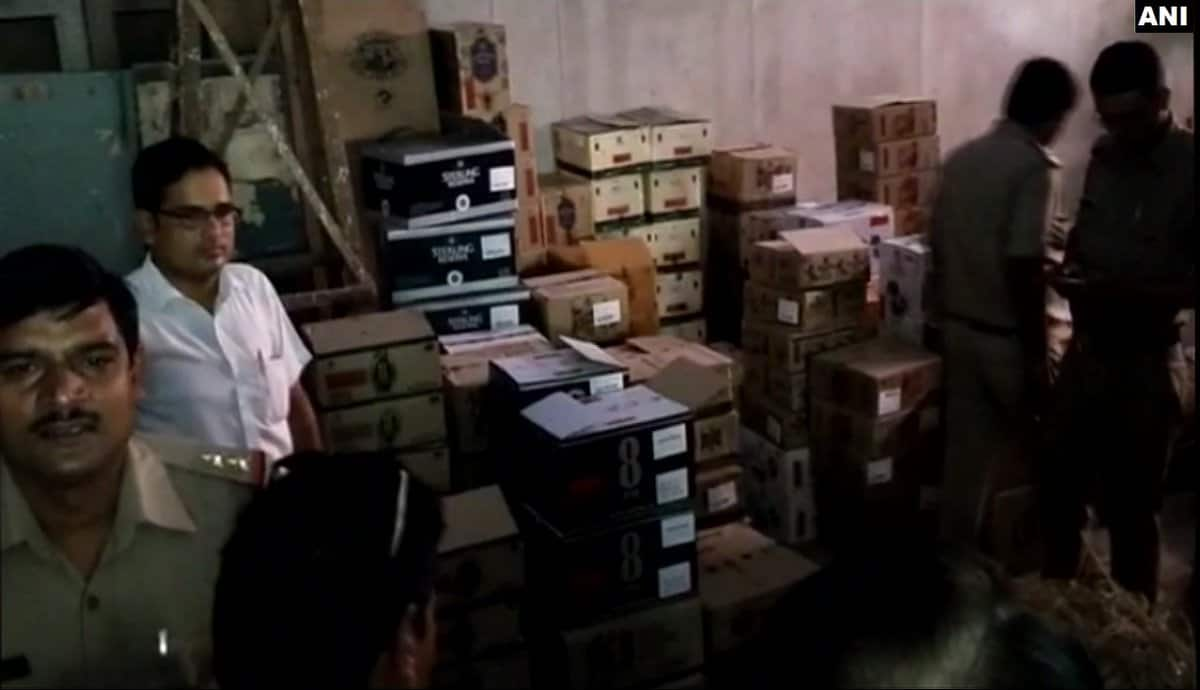 Police seized 200 cartons of liquor from a room of a private ward area of LLRM Medical College in Meerut