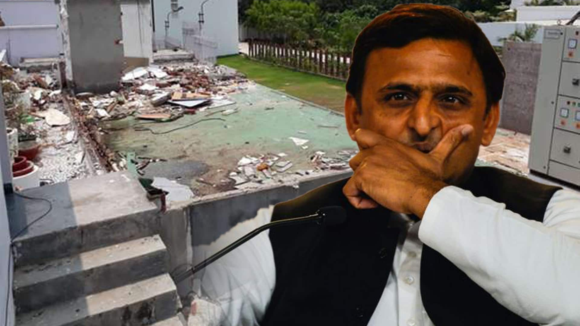 Akhilesh built illegal structure worth over Rs 4.67 crores in govt bungalow