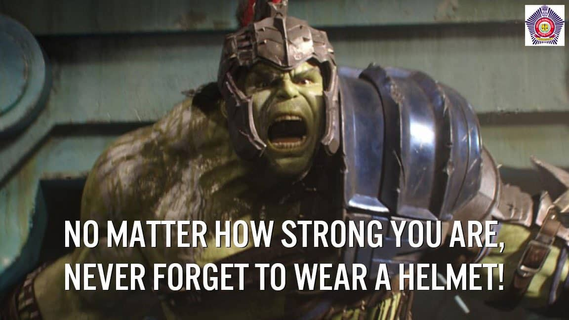 Mumbai police use The Hulk for road safety campaign but get surprised by Twitter responses