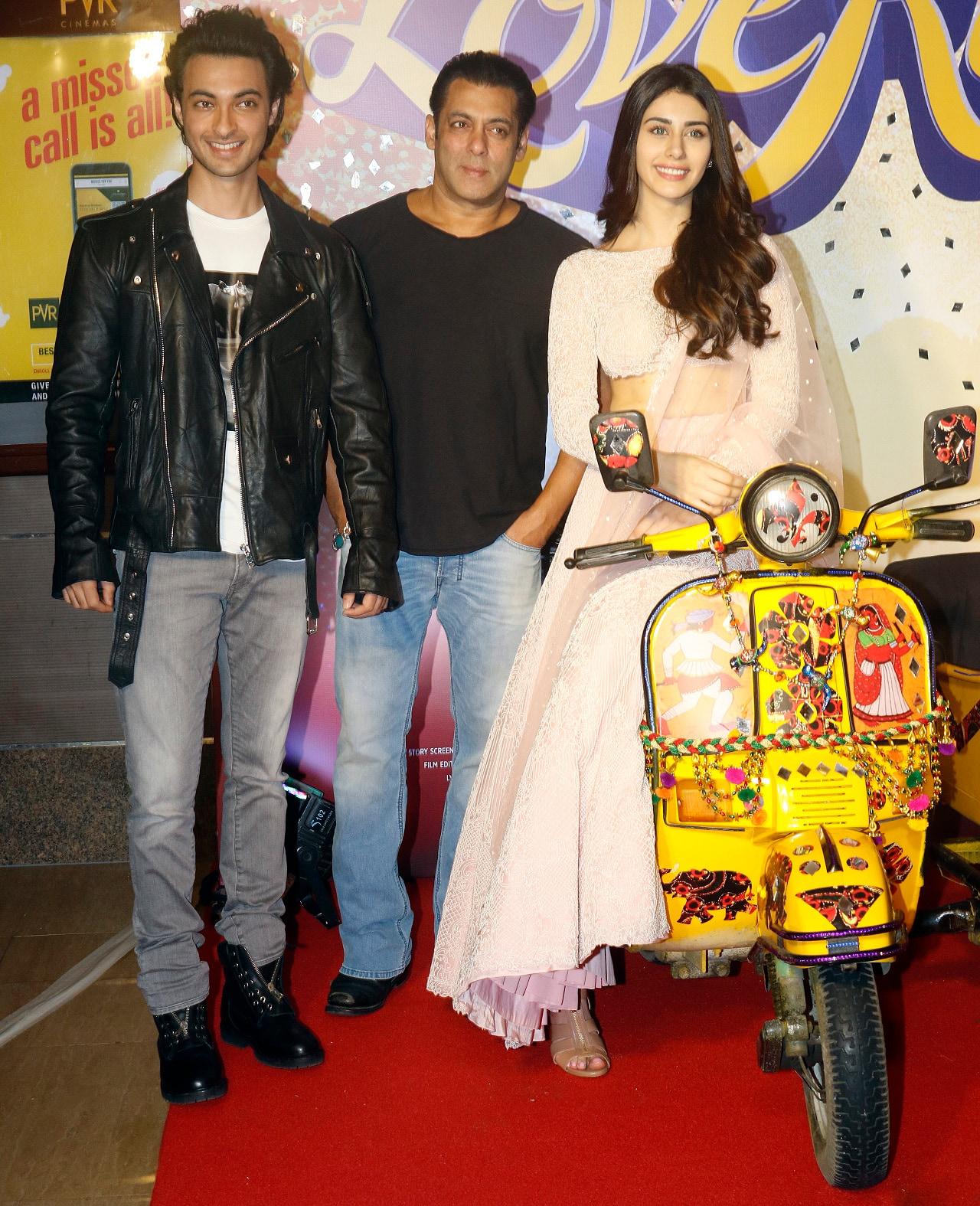 salman khan attend press confrence of film loveratri with ayush sharma