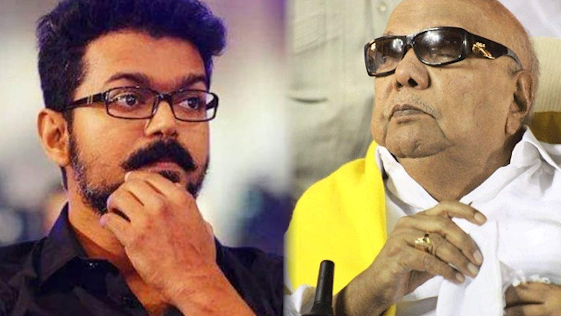 Karunanidhi Death: Kollywood hero Vijay stalls the shooting of his film Sarkar in the US as a mark of respect for the DMK chief