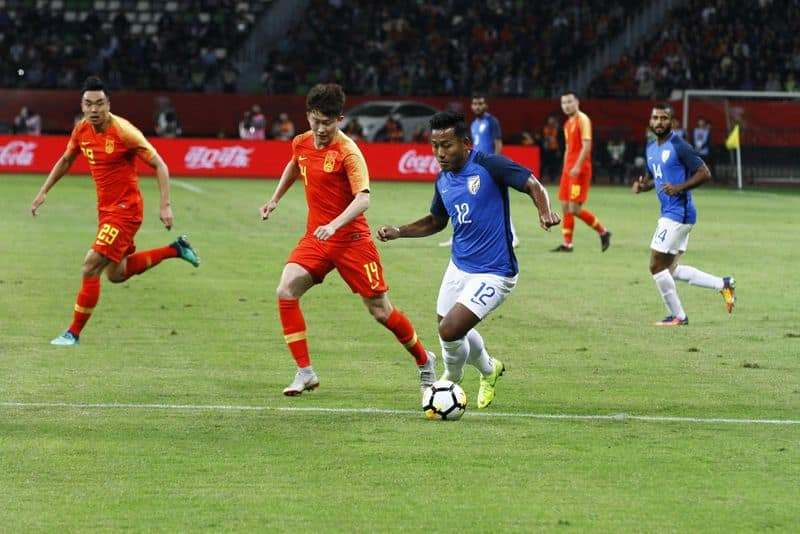 Sunil Chhetri India football team China draw international friendly match Suzhou