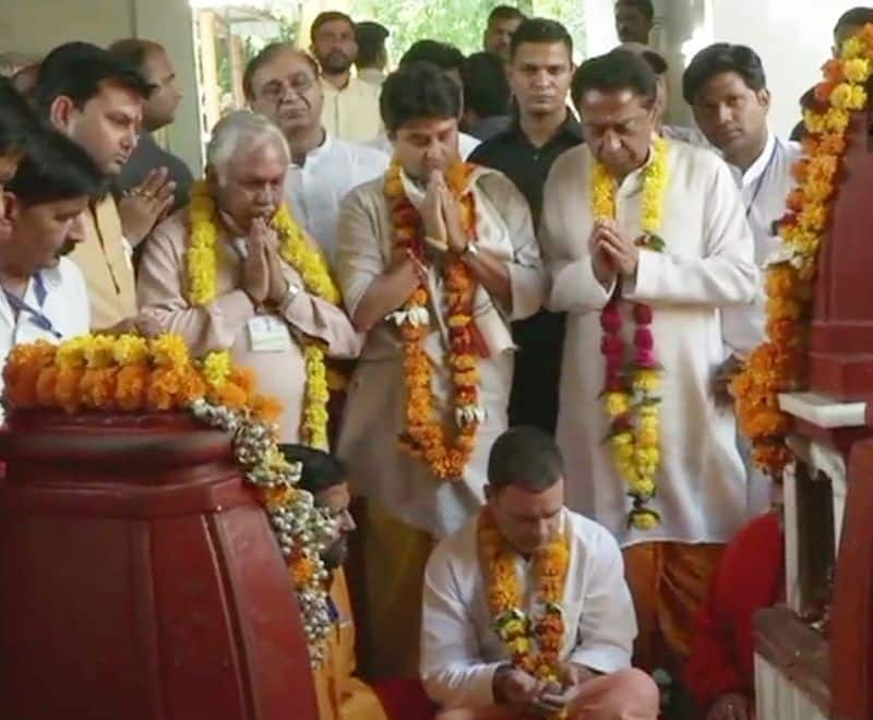 Rahul Gandhi reached the temple in Madhya Pradesh for the elections.