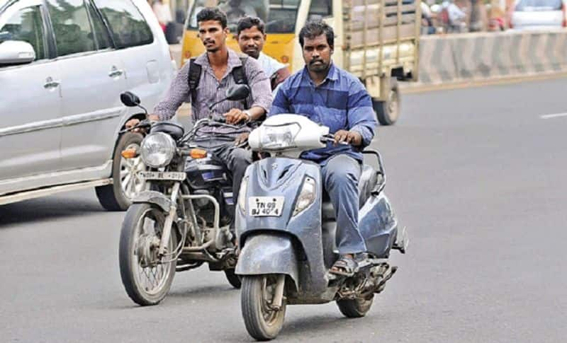 be alert while traveling in two wheeler