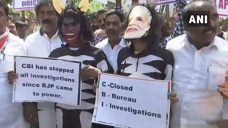 CBI Vs CBI: Senior Congress leaders join Rahul Gandhi in protest against Modi government