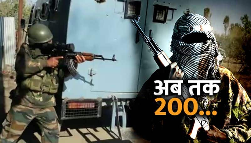 """Army hits """"Double Century"""" in valley; 8 terrorists gunned down in 19 hours"""