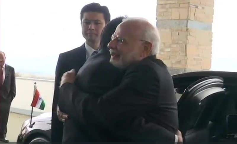 prime minister narendra modi arrived in japan on  participate in the 13th annual conference
