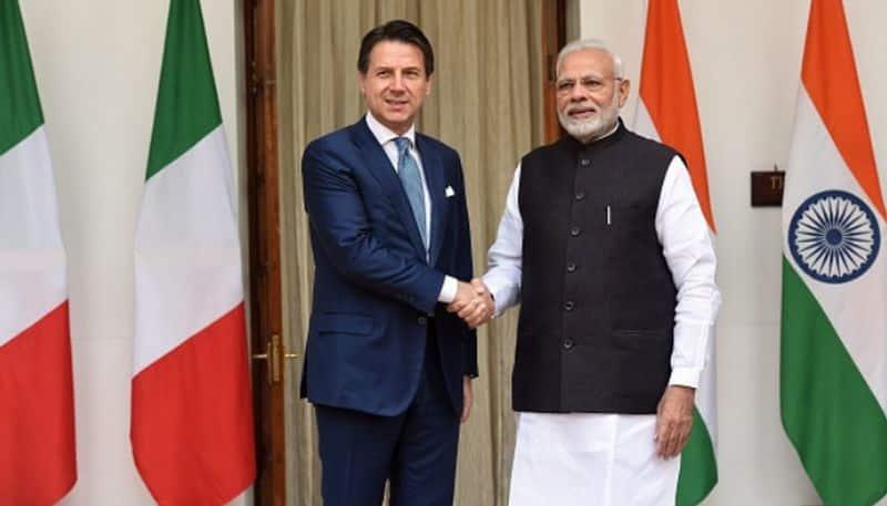 India-Italy Technology Summit Giuseppe Conte Narendra Modi Leonardo Make in India