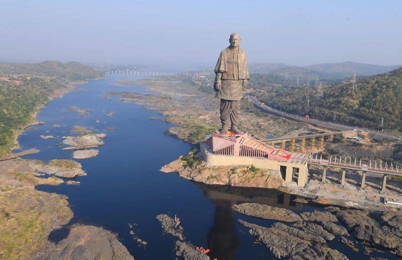Sardar Patel's statue of unity built in India, not China