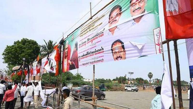 AIADMK banner tore on thevar jayanthi...Case files against TTV Dinakaran