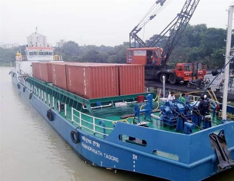 First ever inland waterway in independent India kicks off in style