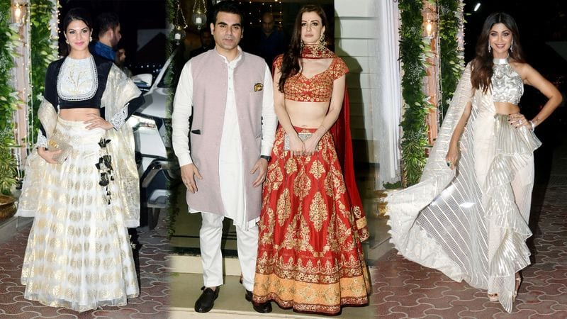 shilpa shetty diwali party: arbaz khan came with his girlfriend and sushmita sen with her 15 year old boyfriend