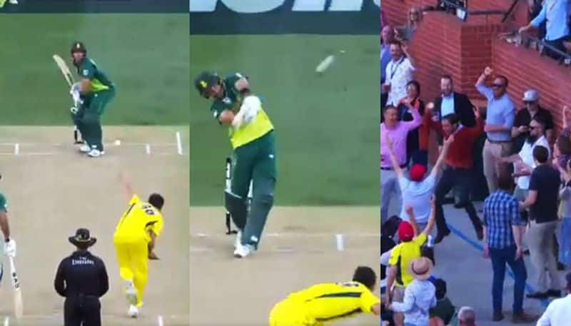 Watch: Aiden Markram smashes Mitchell Starc's 150kmph delivery for a massive 95-metre six