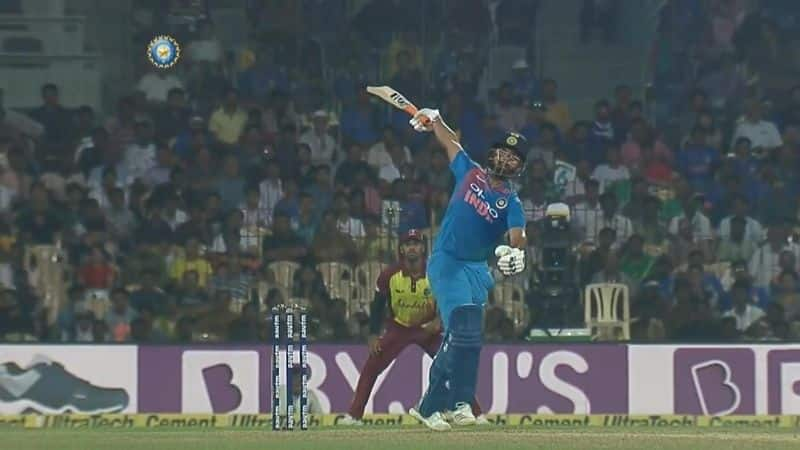Watch: Rishabh Pant's stunning one-handed six in India-West Indies 3rd T20I