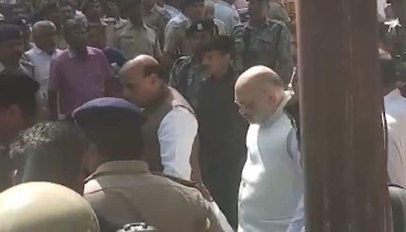 Rajnath Singh, Amit Shah in poll-bound Assam; assert BJP government will continue to do good work