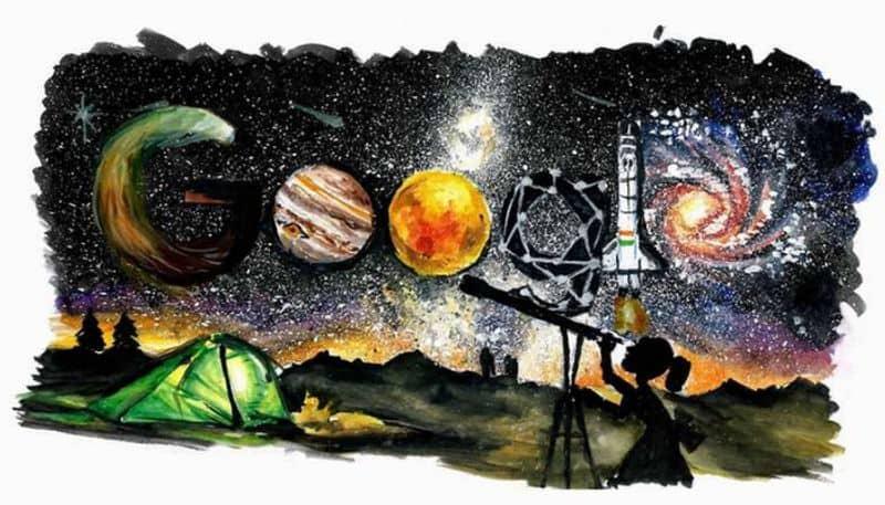 Childrens day google doodle space exploration Pandit Jawaharlal Nehru