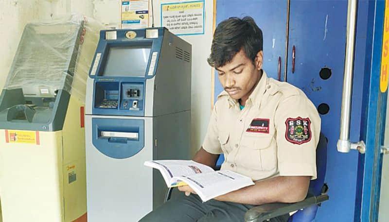Security guard at night secures MA gold medal first rank Karnataka
