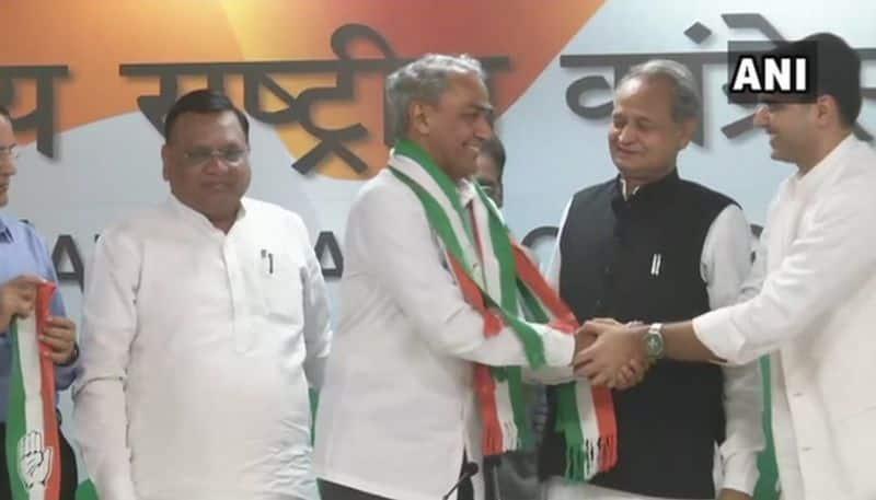 #Semifinals18 BJP Harish Meena joins Congress Rajasthan elections Dausa