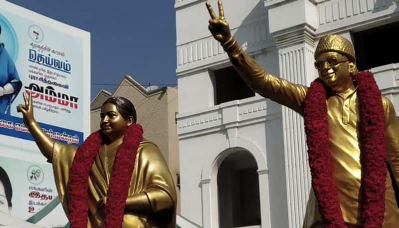 AIADMK unveils new bronze statue of Jayalalithaa at party headquarters