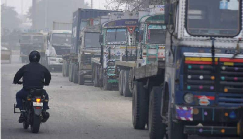 Delhi pollution entry ban heavy vehicles lifted air quality EPCA